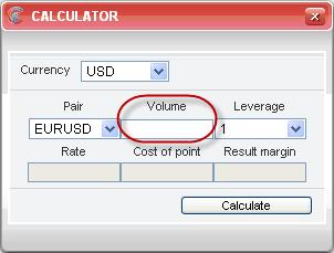 Forex trade volume calculator